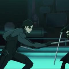 Nightwing vs Robin.