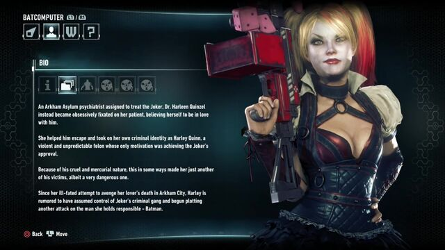 File:Batman Arkham Knight Character Bios Harley Quinn.jpg