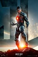 Justice League - Movie Poster (Cyborg)