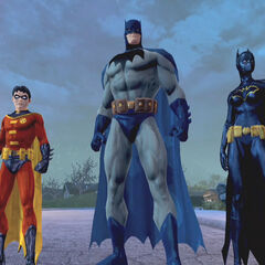 Robin, Batman y Batgirl