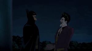 Batman rie con su enemigo