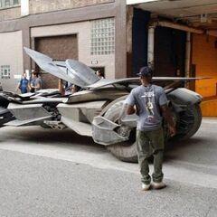 Batmóvil en el set de rodaje [4]