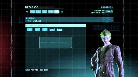Batman Arkham Origins Joker Audio Tapes
