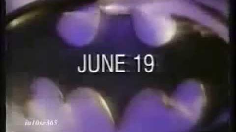 "Batman Returns ""The Bat"" TV Spot Trailer Michael Keaton Pfeiffer DeVito Burton 1989 Commercial"
