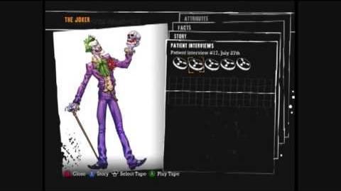 Batman Arkham Asylum - the Joker interview (audio recording)