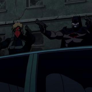 Batman pelea junto a Grifter