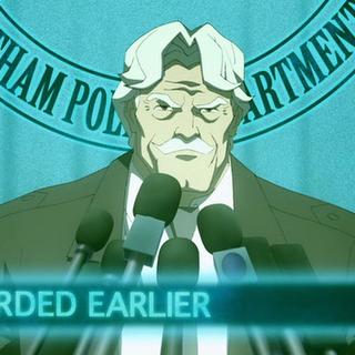 Gordon Hablando ante los medios.