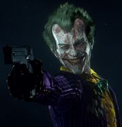 Joker character trophy Batman Arkham Knight