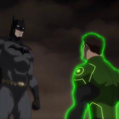 Batman se enoja con Green Lantern.