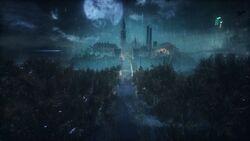 Arkham Asylum in Arkham Knight1