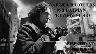 1989Batman.com Warner Brothers 1988 Batman Preview Video RARE Making Of 1989