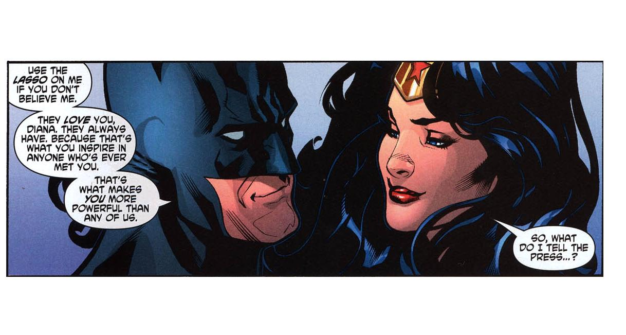 Does batman and wonder woman hook up