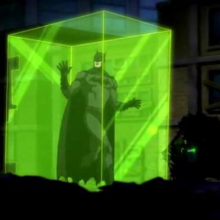 Green Lantern deja encerrado a Batman.