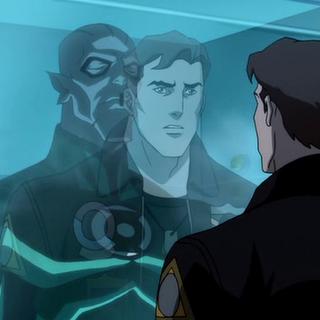 Hal contemplando el cuerpo de Abin Sur