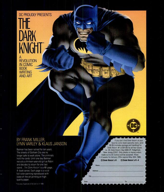SpinMagAd This Page Links To All Uses Of The Dark Knight Sobriquet For Batman