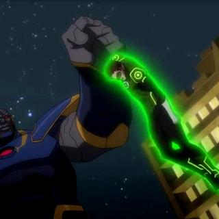 Green Lantern en apuros.