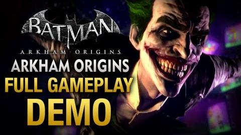 Batman Arkham Origins - Full Gameplay Demo Walkthrough (E3 2013)