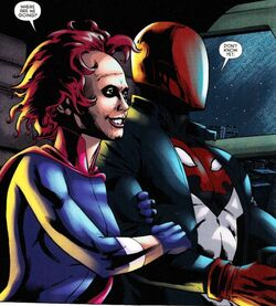 Scarlet and red hood