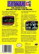 Batman - Return of the Joker NES back cover