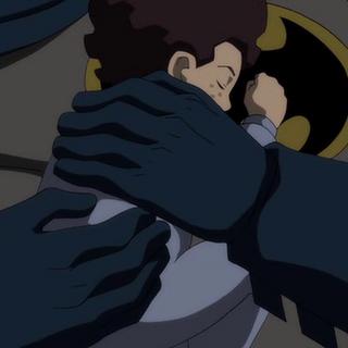 Batman salva al niño