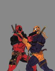 Wade vs Slade by Art bully