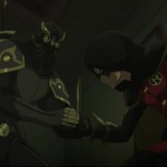 Talon obliga a Robin.