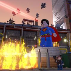 Superman en el juego.