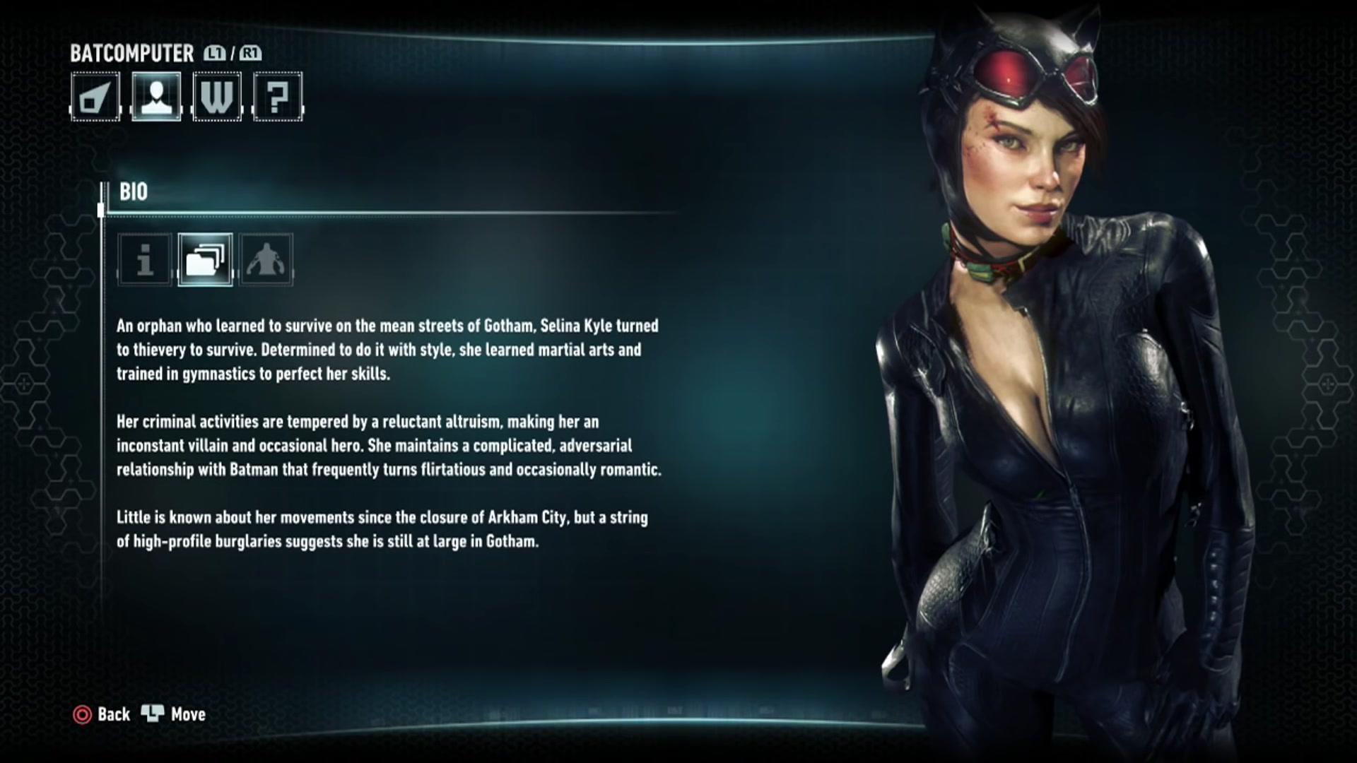 Batman Arkham Knight Character Bios Catwoman