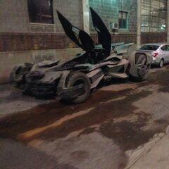 Batmóvil en el set de rodaje [1]