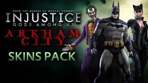 Injustice Gods Among Us - Batman Arkham City Skins Gameplay