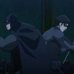 Batman y Nightwing contra los Talons.