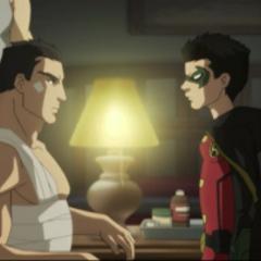Bruce y Damian vuelven a discutir.