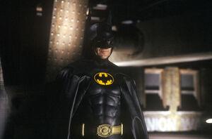 1989 Michael Keaton Batsuit Rooftop
