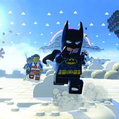 Batman corriendo junto a sus compañeros.