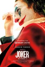 Joker Movie Poster Discover It In Dolby Cinema