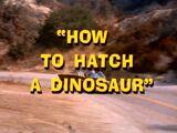 How To Hatch A Dinosaur