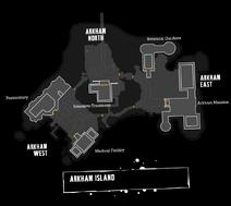 Clean Arkham Asylum Map - Labeled (By BennettF)