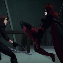 Talia contra Batwoman.
