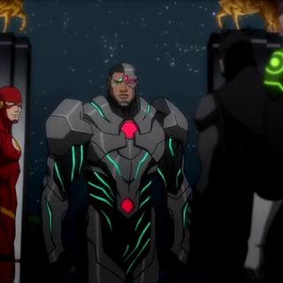 Cyborg explica el plan del enemigo.