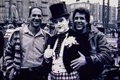 Batman 1989 - Guber, Peters and Nicholson on set