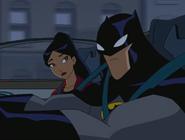 Yin and batman in batmobile