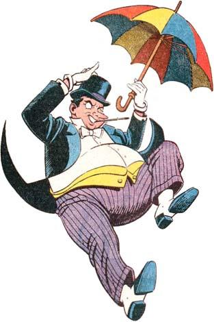 The Penguin With His Trademark Umbrella