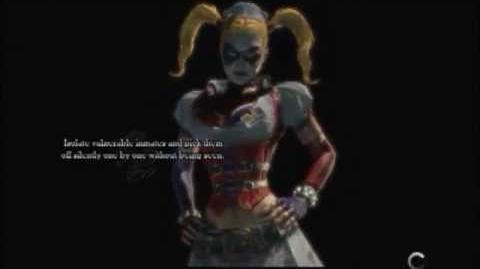 Batman Arkham Asylum Game Over Harley Quinn