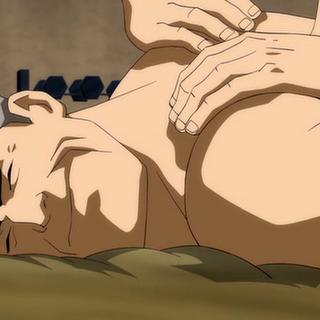 Bruce recibe un masaje reparador