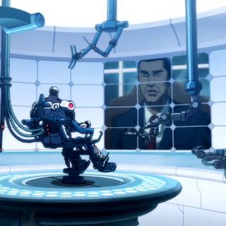 El presidente se comunica con Cyborg