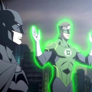 Batman y Green Lantern descubiertos por la policía.