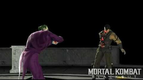 "Mortal Kombat vs. DC Universe The Joker's ""Killer Cards"" Fatality"