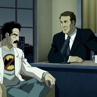 El dr. Wolper ataca a Batman en la tv