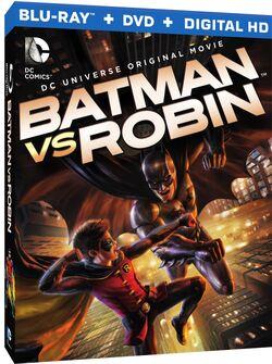 Batman vs Robin Blu-Ray Cover