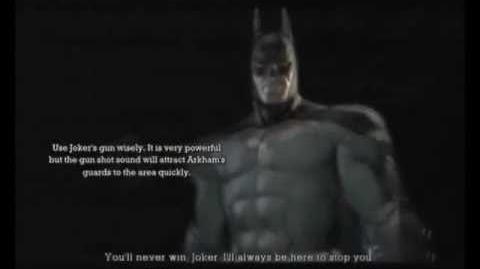 Batman Arkham Asylum Game Over Batman
